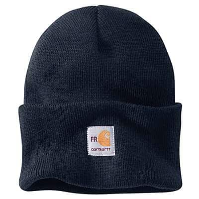 Carhartt Men's Dark Navy Flame-Resistant Knit Watch Hat - front