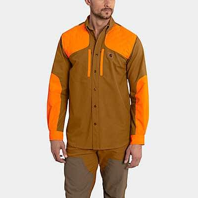 Carhartt Men's Carhartt Brown Upland Field Shirt - front