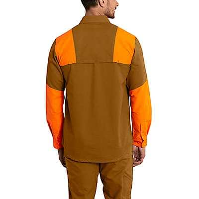 Carhartt Men's Carhartt Brown Upland Field Shirt - back