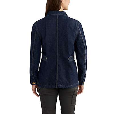 Carhartt Women's Petrol Heritage Denim Chore Coat - back
