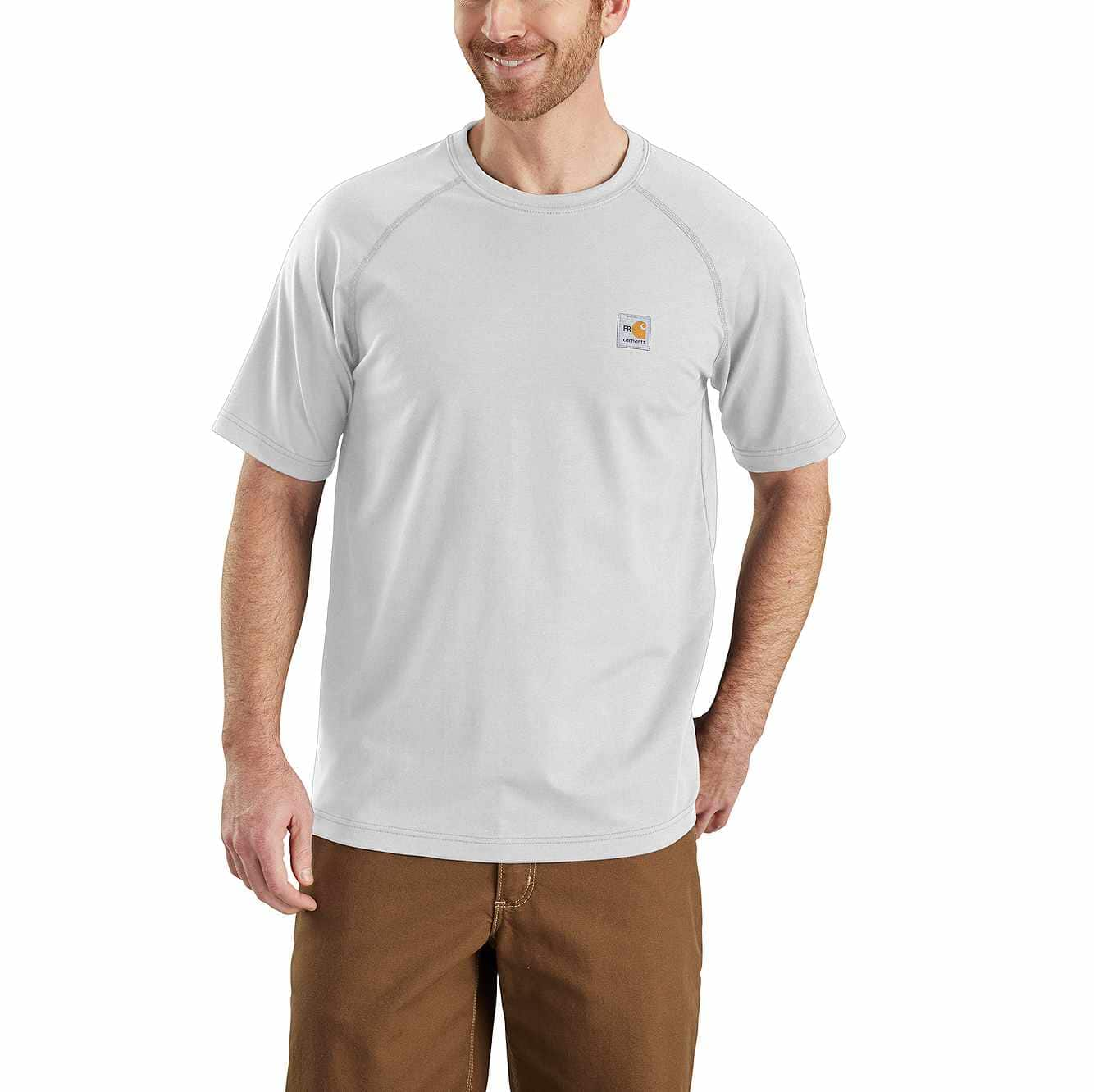 Picture of Flame-Resistant Carhartt Force® Cotton Short-Sleeve T-Shirt in Light Gray