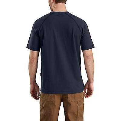 Carhartt Men's Light Gray Flame-Resistant Carhartt Force® Cotton Short-Sleeve T-Shirt - back