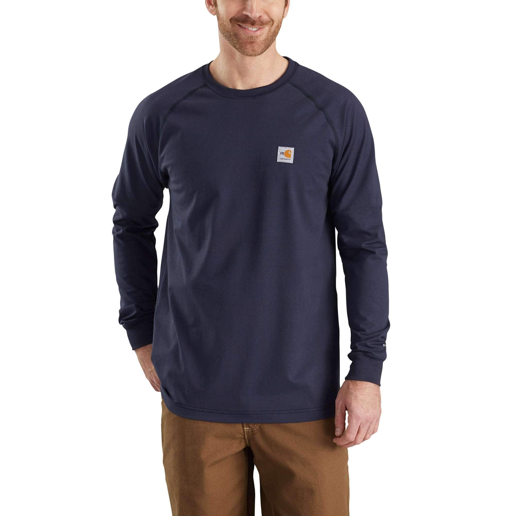 Carhartt Mens Flame Resistant Force Cotton Long Sleeve T-Shirt