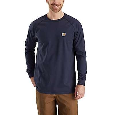 Carhartt Men's Dark Navy Flame-Resistant Carhartt Force® Cotton Long-Sleeve T-Shirt - front