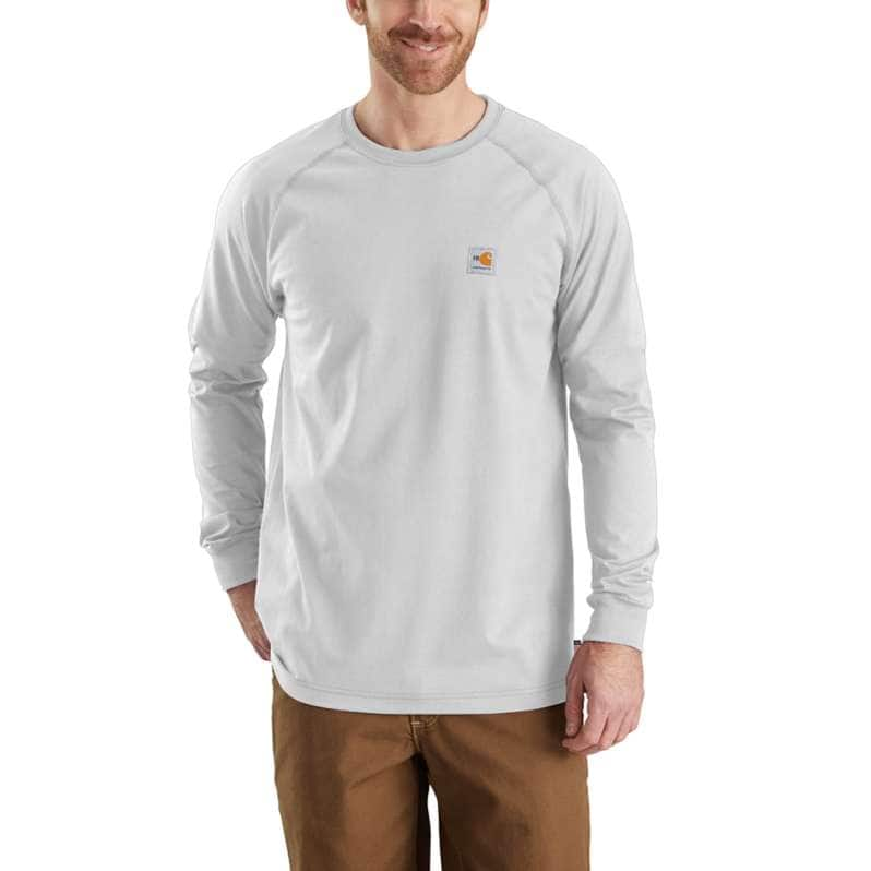 Carhartt  Light Gray Flame-Resistant Force Long-Sleeve T-Shirt