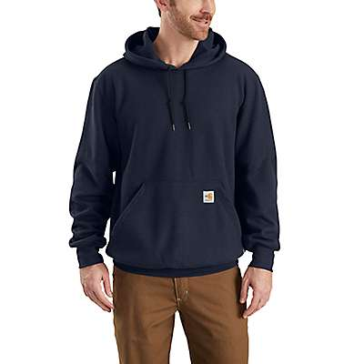 Carhartt  Dark Navy Flame-Resistant Rain Defender® Hooded Heavyweight Sweatshirt - front