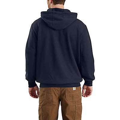 Carhartt  Dark Navy Flame-Resistant Rain Defender® Hooded Heavyweight Sweatshirt - back