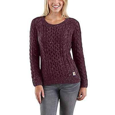 Carhartt Women's Fudge Heather Nep Rocksprings Sweater - front