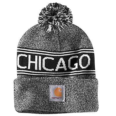 Carhartt Unisex Black Marl Chicago Lookout Hat - front