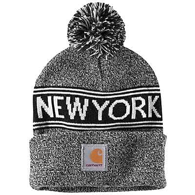 Carhartt Unisex Black Marl New York Lookout Hat - front