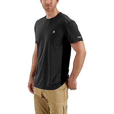 Carhartt Men's Black/Black Heather Force Extremes® Short-Sleeve T-Shirt - front