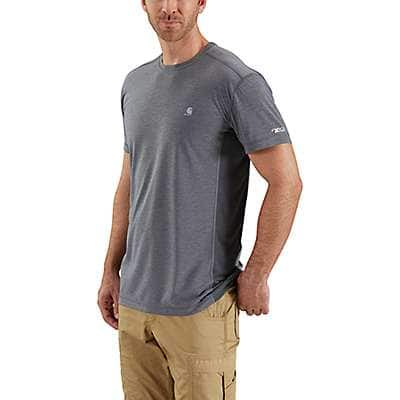 Carhartt  Misted Yellow Heather Force Extremes® Short-Sleeve T-Shirt - front
