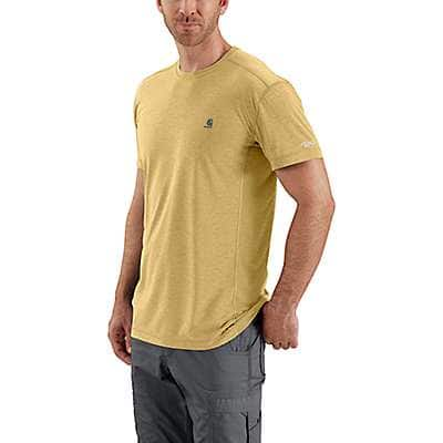 Carhartt Men's Misted Yellow Heather Force Extremes® Short-Sleeve T-Shirt - front