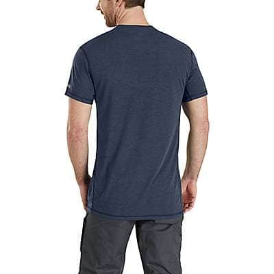 Carhartt Men's Black/Black Heather Force Extremes® Short-Sleeve T-Shirt - back