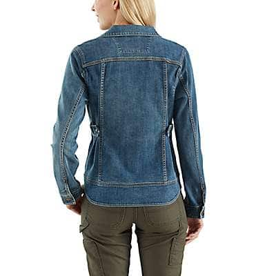 Carhartt Women's Stonewash Benson Denim Jacket - back