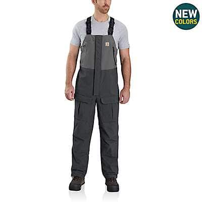 Carhartt Men's Black Storm Defender® Angler Bib - back