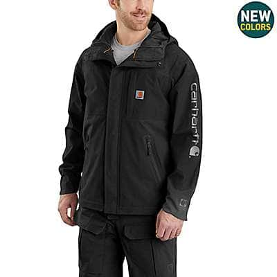 Carhartt Men's Black Storm Defender® Angler Jacket - front