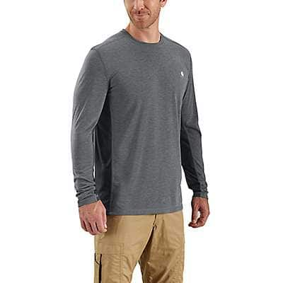 Carhartt Men's Navy Heather Force Extremes® Long-Sleeve T-Shirt - front