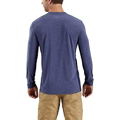 Carhartt Men's Navy Heather Force Extremes® Long-Sleeve T-Shirt - back