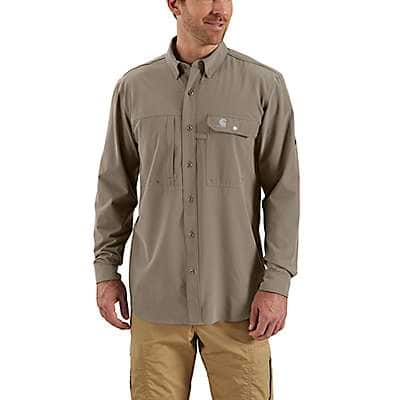 Carhartt Men's Desert Force Extremes® Angler Long-Sleeve Button Down Shirt - front