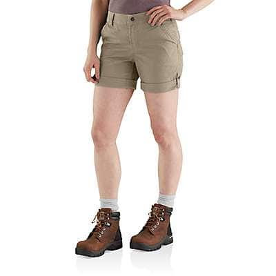 Carhartt Women's Tan Original Fit Smithville Short - front