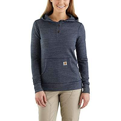 Carhartt Women's Navy Space Dye Norwalk Hoodie - front