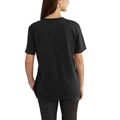 Carhartt Women's Rose Smoke WK87 Workwear Pocket T-Shirt - back