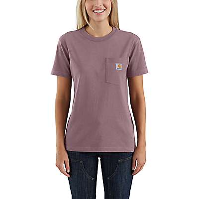 Carhartt  Brick Dust WK87 Workwear Pocket T-Shirt - front