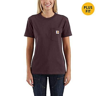 Carhartt Women's Brick Dust WK87 Workwear Pocket T-Shirt - front