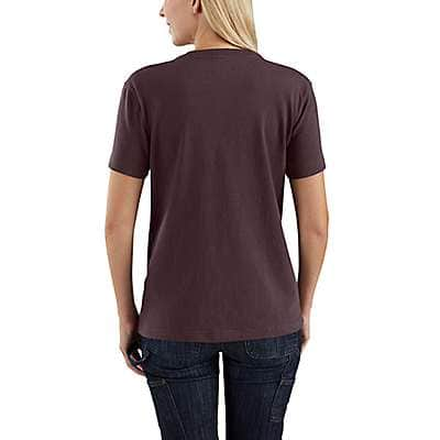 Carhartt Women's Brick Dust WK87 Workwear Pocket T-Shirt - back