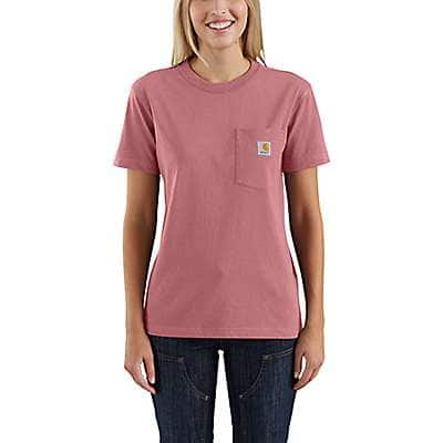 Carhartt Women's Brick Dust WK87 Workwear Pocket T-Shirt - front