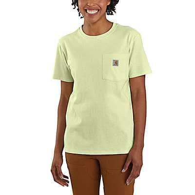 Carhartt Women's Pastel Lime Women's Loose Fit Heavyweight Short-Sleeve Pocket T-Shirt