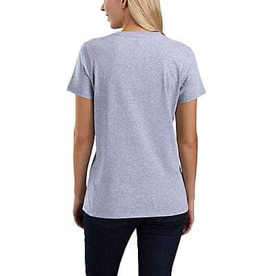 Carhartt Women's Heather Gray Lubbock Script Graphic T-Shirt - back