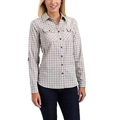 Carhartt Women's Asphalt Carhartt Force® Ridgefield Plaid Shirt - front