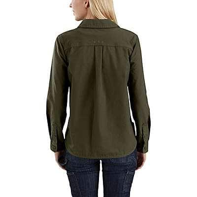 Carhartt Women's Olive Smithville Shirt - back
