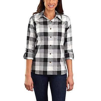 Carhartt Women's Asphalt Fairview Plaid Shirt - front