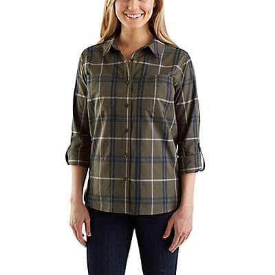 Carhartt Women's Grape Leaf Fairview Plaid Shirt - front