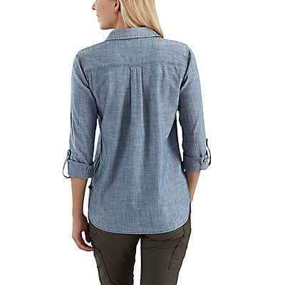 Carhartt Women's Light Indigo Fairview Solid Shirt - back