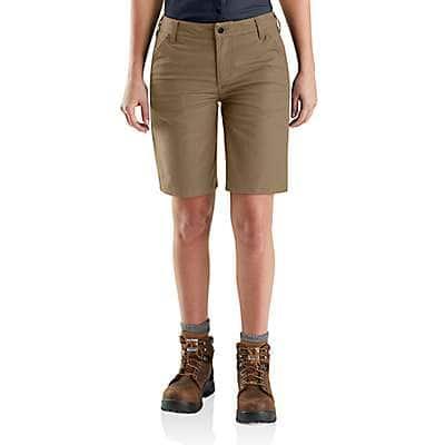 Carhartt Women's Black Rugged Professional™ Series Women's Original Fit Short - front