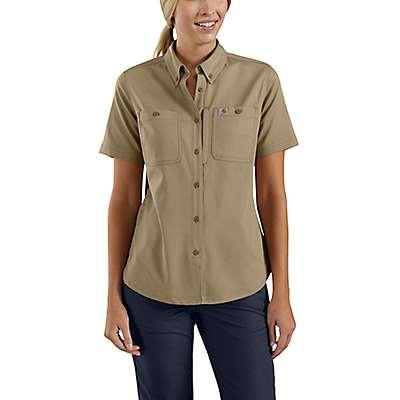 Carhartt Women's Navy Rugged Professional™ Series Women's Short-Sleeve Shirt - front