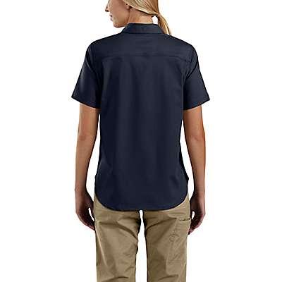 Carhartt Women's Navy Rugged Professional™ Series Women's Short-Sleeve Shirt - back