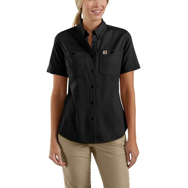 Carhartt  Black Rugged Professional™ Series Relaxed Fit Canvas Short Sleeve Work Shirt