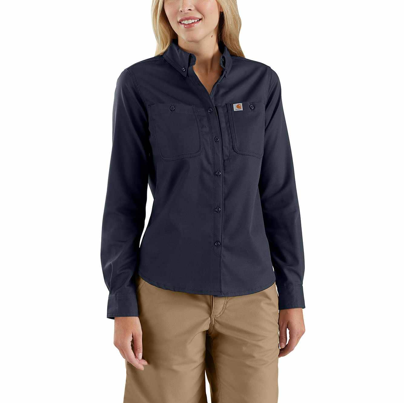 Picture of Rugged Professional™ Series Women's Long-Sleeve Shirt in Navy