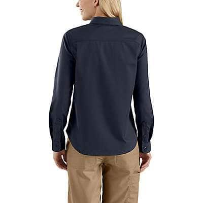 Carhartt Women's Navy Rugged Professional™ Series Women's Long-Sleeve Shirt - back