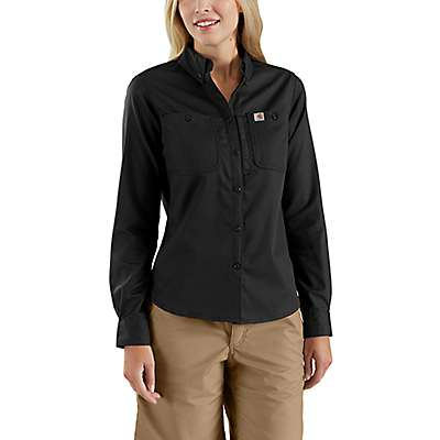Carhartt Women's Black Rugged Professional™ Series Relaxed Fit Canvas Long Sleeve Work Shirt