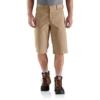 Carhartt Men's Dark Khaki Rugged Flex® 13 Inch Rigby Short - front
