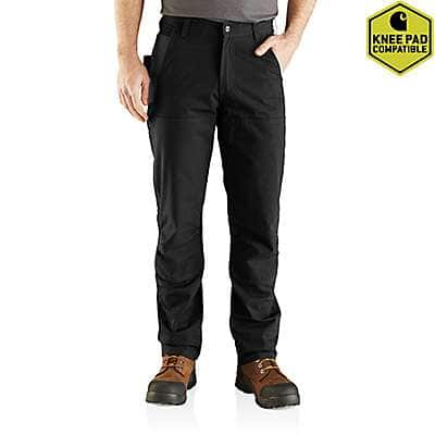 Carhartt Men's Black Rugged Flex® Steel Double Front Pant - front