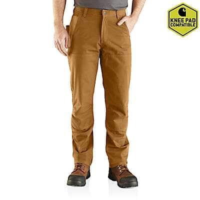 Carhartt Men's Carhartt Brown Rugged Flex® Steel Double Front Pant
