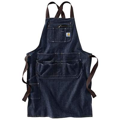 Carhartt Unisex Dark Blue Ridge Denim Apron - front