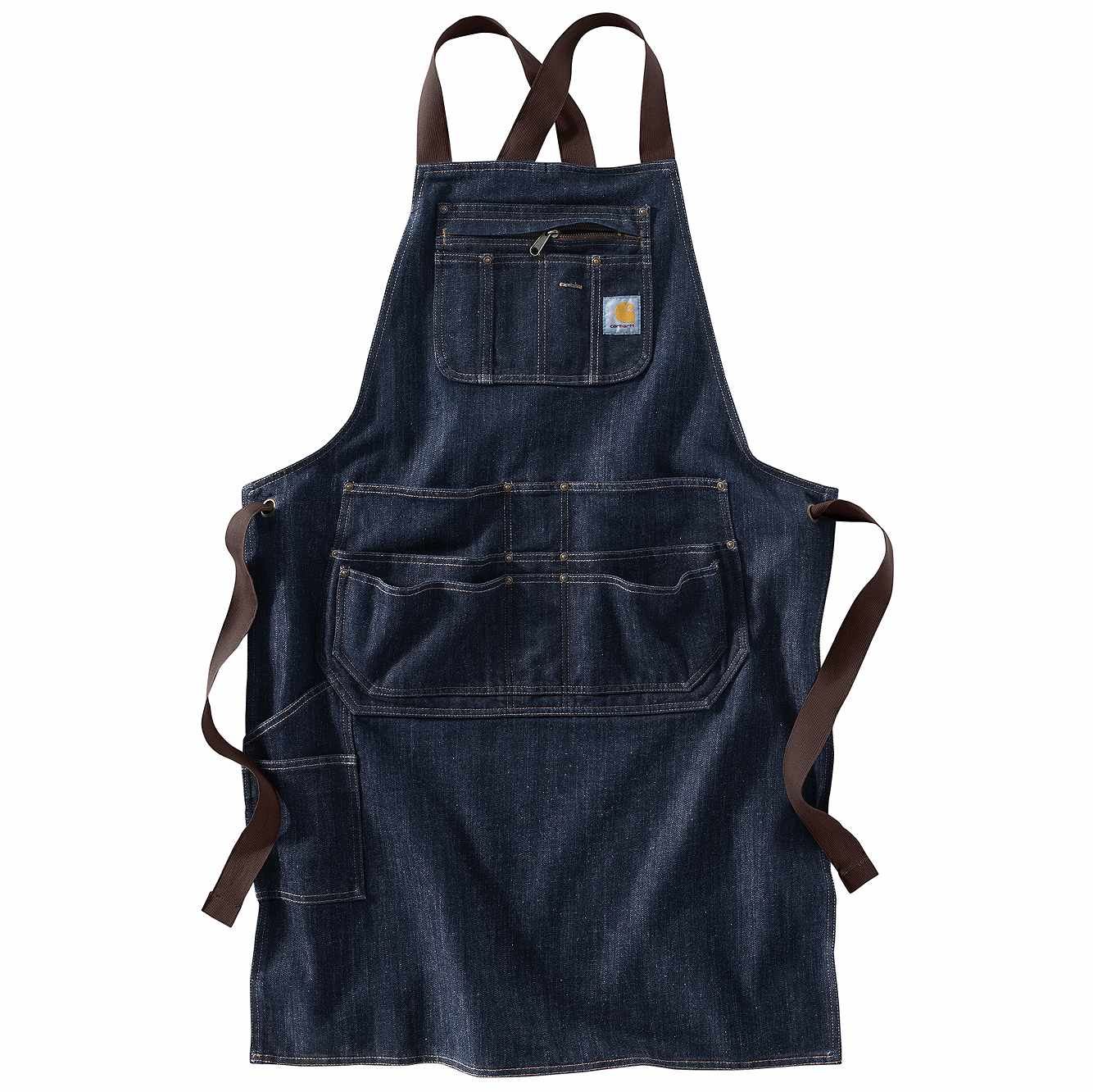 Picture of Denim Apron in Dark Blue Ridge
